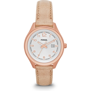 Fossil AM4501 Watch Strap Beige Leather