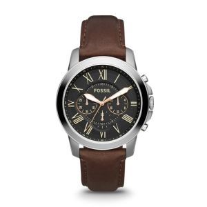 Fossil AN4512 Watch Strap Brown Leather