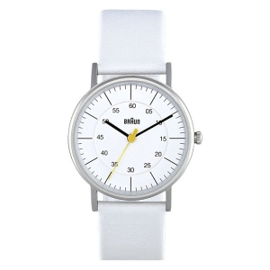 Braun BN0011WHWHL Watch Strap White Leather