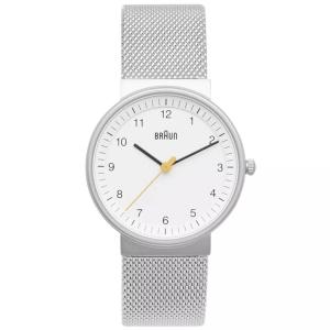 Braun BN0031WHSLMHL Watch Strap Silver Mesh (Milanese)
