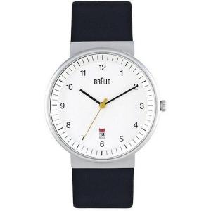 Braun BN0032WHBKG Watch Strap Black Leather