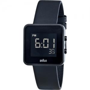Braun BN0046BKBKL Watch Strap Black Leather