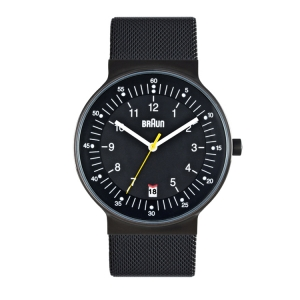 Braun BN0082BKBKMHG Watch Strap Black Mesh (Milanese)
