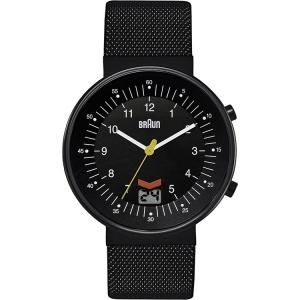 Braun BN0087BKBKMHG Watch Strap Black Mesh (Milanese)
