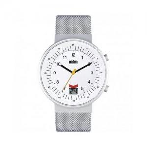 Braun BN0087WHSLMHG Watch Strap Silver Mesh (Milanese)