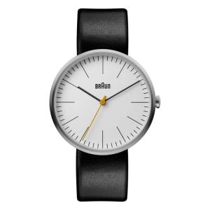Braun BN0173WHBKG Watch Strap Black Leather