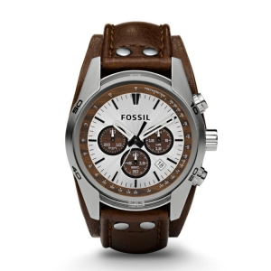 Fossil CH2565 Watch Strap Brown Leather