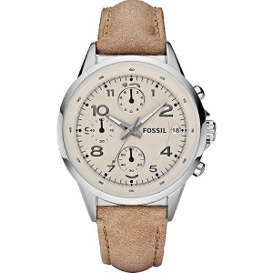 Fossil CH2714 Watch Strap Beige Leather