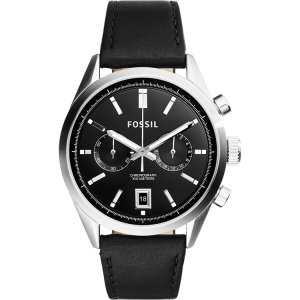 Fossil CH2972 Watch Strap Black Leather