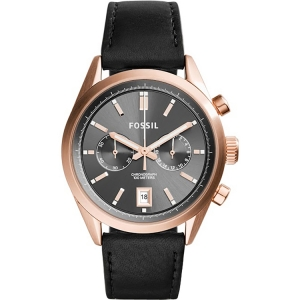 Fossil CH2991 Watch Strap Black Leather