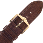 Hirsch Camelgrain Watch Band No Allergy Brown