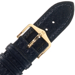 Hirsch Camelgrain Watch Band No Allergy Black
