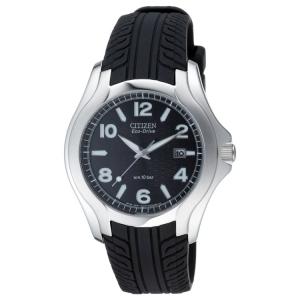 Citizen Eco-Drive BM6530-04 Watch Strap Black Tire Tread