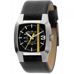 Diesel DZ1089 Watch Strap Black Leather