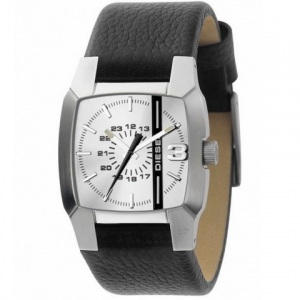 Diesel DZ1091 Watch Strap Black Leather