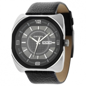 Diesel DZ1117 Watch Strap Black Leather