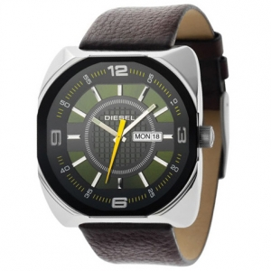 Diesel DZ1119 Watch Strap Brown Leather