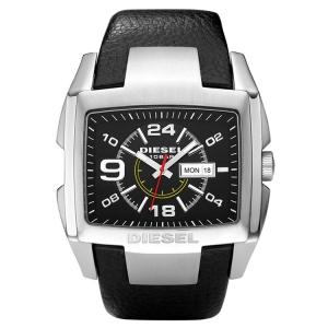 Diesel DZ1215 Watch Strap Black Leather