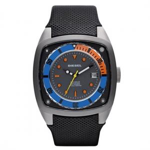 Diesel DZ1490 Watch Strap Black Leather