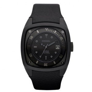 Diesel DZ1492 Watch Strap Black Leather