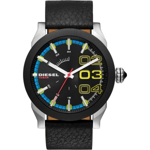 Diesel DZ1677 Watch Strap Black Leather