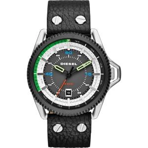 Diesel DZ1717 Watch Strap Black Leather