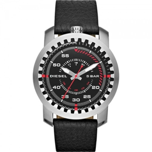 Diesel DZ1750 Watch Strap Black Leather