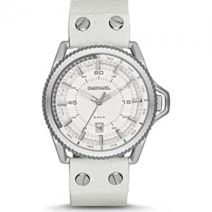 Diesel DZ1755 Watch Strap White Leather