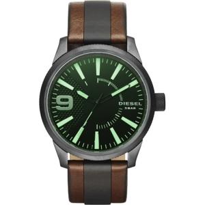 Diesel DZ1765 Watch Strap Black/Brown Leather