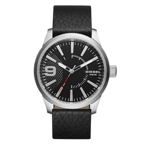Diesel DZ1766 Watch Strap Black Leather