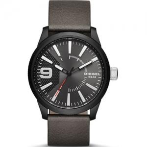 Diesel DZ1776 Watch Strap Grey Leather
