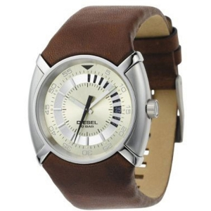 Diesel DZ3037 Watch Strap Brown Leather