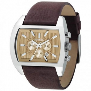 Diesel DZ4139 Watch Strap Brown Leather