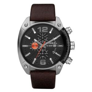 Diesel DZ4204 Watch Strap Brown Leather