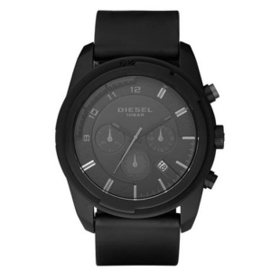 Diesel DZ4211 Watch Strap Black Leather