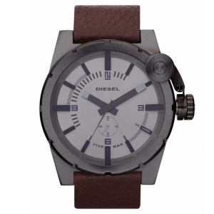 Diesel DZ4238 Watch Strap Brown Leather