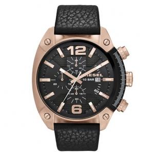 Diesel DZ4297 Watch Strap Black Leather