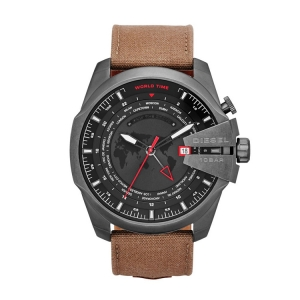 Diesel DZ4306  Watch Strap Brown Leather