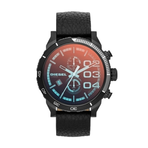 Diesel DZ4311  Watch Strap Black Leather