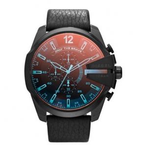 Diesel DZ4323 Watch Strap Black Leather