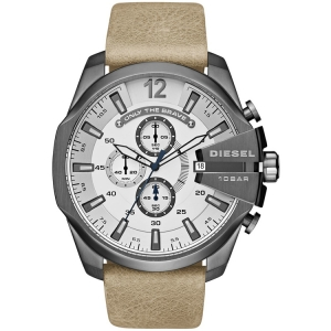 Diesel DZ4359 Watch Strap Beige Leather