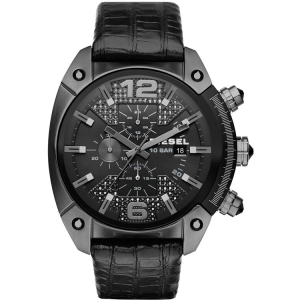 Diesel DZ4372 Watch Strap Black Leather