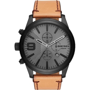Diesel DZ4468 Watch Strap Brown Leather