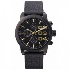 Diesel DZ5442 Watch Strap Black Leather