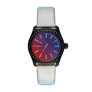 Diesel DZ5459 Watch Strap Silver Leather