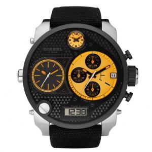 Diesel DZ7234 Watch Strap Black Leather