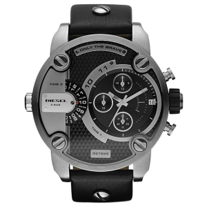 Diesel DZ7256 Watch Strap Black Leather