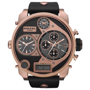 Diesel DZ7261 Watch Strap Black Leather