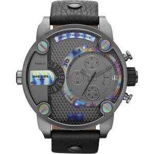 Diesel DZ7270 Watch Strap Black Leather