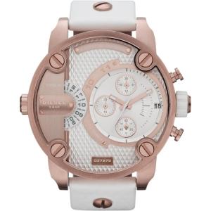 Diesel DZ7271 Watch Strap White Leather